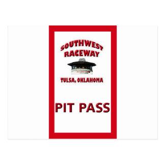 Southwest Raceway Pit Pass Postcard