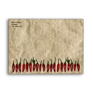 Southwest Red Peppers and Old Paper Look Envelope
