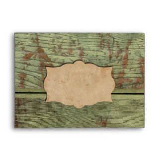 Southwest Red Peppers and Old Wood Look Envelope