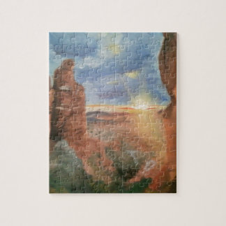 Southwest Red Rock Sunset Jigsaw Puzzle