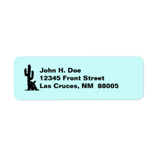 Southwest Saguaro Cactus Siesta Address Labels