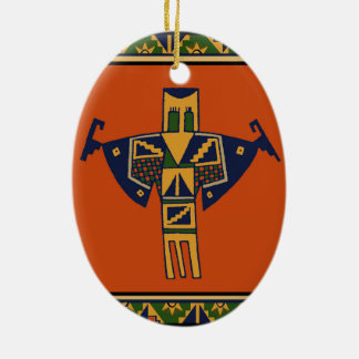 Southwest Shaman Spirit Ceramic Ornament