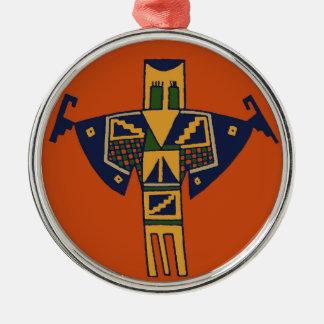 Southwest Shaman Spirit Metal Ornament