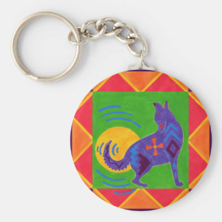 Southwest Sing-along: Coyote's Moon-Drum Basic Round Button Keychain