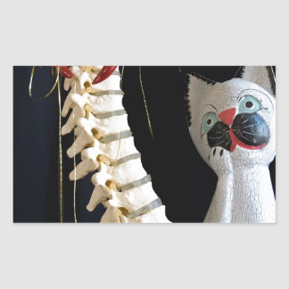 Southwest Spine Skeleton Chili Pepper Cat Stickers