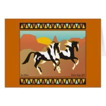 Southwest Spirit Equestrian Note Card