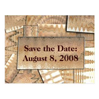 Southwest style save the date postcard
