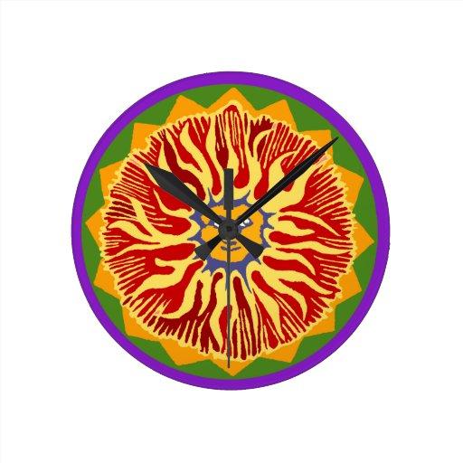 Southwest Sunburst Round Wallclock