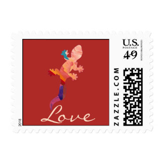 Southwest Sunset Lizard Stamp