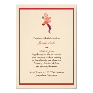 Southwest Sunset Lizard Wedding Invitation