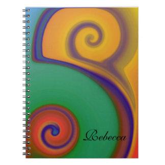 Southwest Swirl Monogram Notebook Notebook