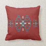 Southwest Symmetry Cotton Throw Pillow 16x16