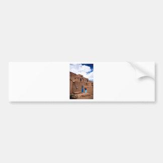 Southwest Taos Adobe Pueblo House New Mexico Bumper Stickers