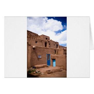 Southwest Taos Adobe Pueblo House New Mexico Card