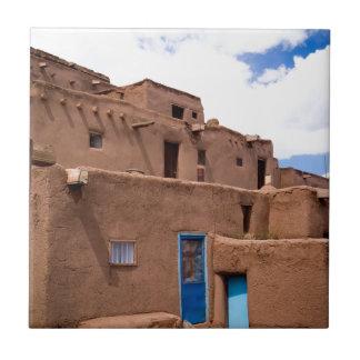 Southwest Taos Adobe Pueblo House New Mexico Ceramic Tile