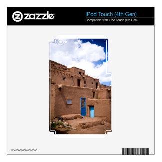 Southwest Taos Adobe Pueblo House New Mexico iPod Touch 4G Skin