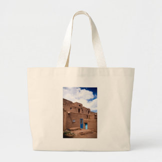 Southwest Taos Adobe Pueblo House New Mexico Large Tote Bag