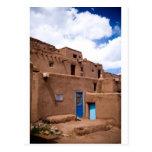 Southwest Taos Adobe Pueblo House New Mexico Postcard