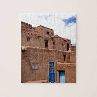 Southwest Taos Adobe Pueblo House New Mexico Puzzle