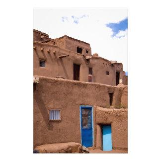 Southwest Taos Adobe Pueblo House New Mexico Stationery