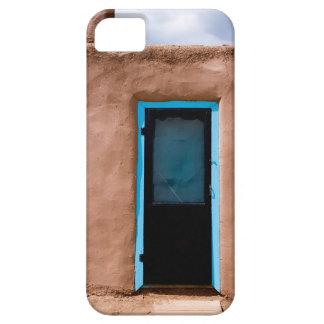 Southwest Taos Adobe Pueblo House Turquoise Door iPhone 5 Cover