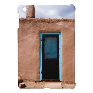 Southwest Taos Adobe Pueblo House Turquoise Door iPad Mini Cover