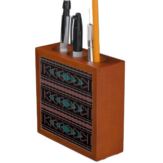 Southwest Tapestry Desk Pen and Pencil Organizer
