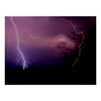 Southwest Texas Lightning Storm Poster