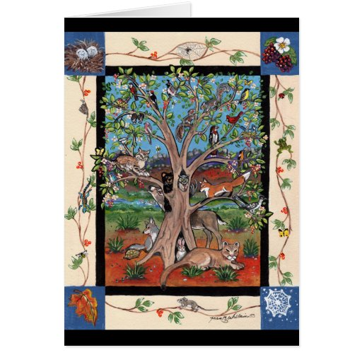 """Southwest Tree of Life"", Four Seasons, Art Notes Cards"
