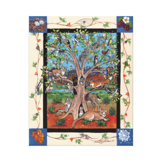 Southwest Tree of Life Four Seasons Canvas Print