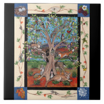 """Southwest Tree of Life"" Four Seasons, Tile Trivet"