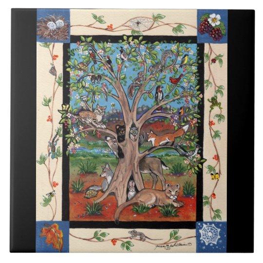 Quot Southwest Tree Of Life Quot Four Seasons Tile Trivet Zazzle