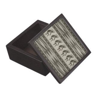 Southwest Tribal Aztec Pattern Kokopelli Keepsake Box