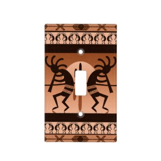 Southwest Tribal Desert Sun Cactus Kokopelli Light Switch Cover