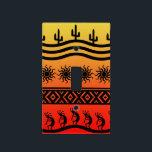 "Southwest Tribal Desert Sun Cactus Kokopelli Light Switch Cover<br><div class=""desc"">Light switch cover featuring a southwest Kokopelli in sunset design. For more southwest home decor visit the rest of this shop!</div>"