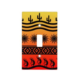 Southwest Tribal Desert Sun Cactus Kokopelli Light Switch Cover