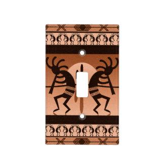 Southwest Tribal Desert Sun Cactus Kokopelli Light Switch Plate