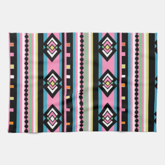 Southwest Tribal Geometric Pink Hand Towel