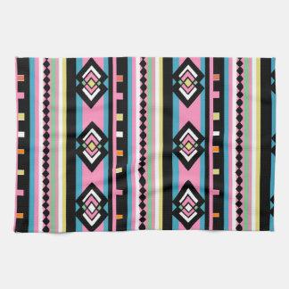 Southwest Tribal Geometric Pink Kitchen Towel