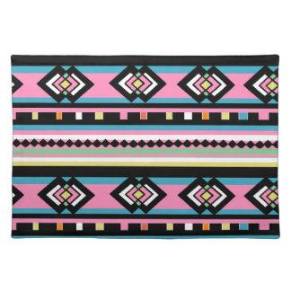 Southwest Tribal Geometric Pink Cloth Place Mat