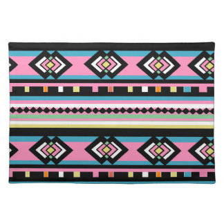 Southwest Tribal Geometric Pink Cloth Placemat