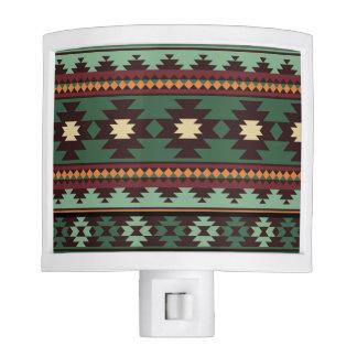 Southwest tribal green brown night light