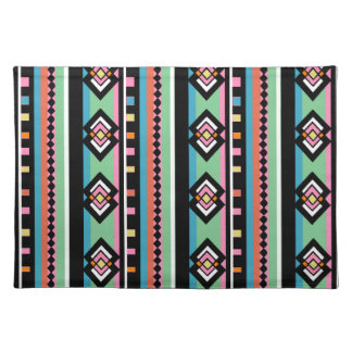 Southwest Tribal Green Geometric Cloth Placemat