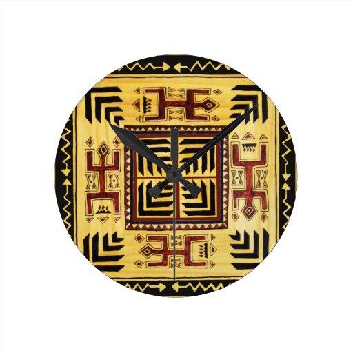 Southwest Tribal Spirits Round Clocks