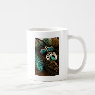 Southwest Turquoise Ring Bolo Tie Blue Green Coffee Mug