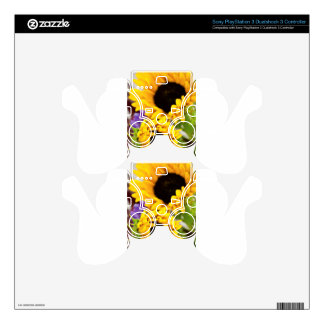 Southwest Yellow Sunflower PS3 Controller Skins