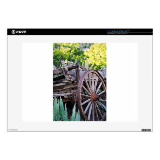 Southwestern Antique Wagon Wheel Cactus Decals For Laptops