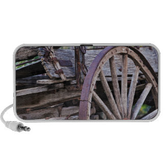 Southwestern Antique Wagon Wheel Cactus Notebook Speakers