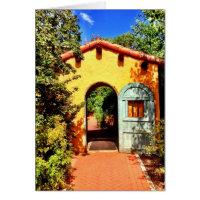 Southwestern Arched Doorway Garden Blank Cards