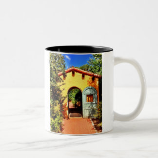 Southwestern Arched Doorway Garden Coffee Cup Mug